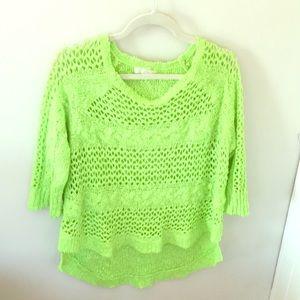 LF / Millau Lime Green High-Low Sweater